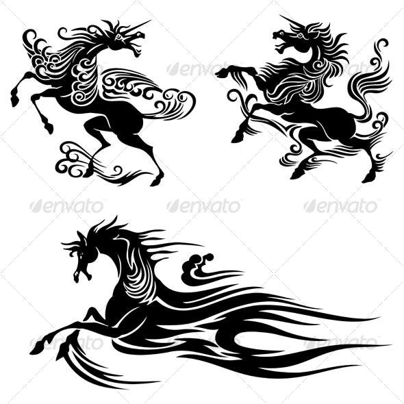 horses design - Animals Characters