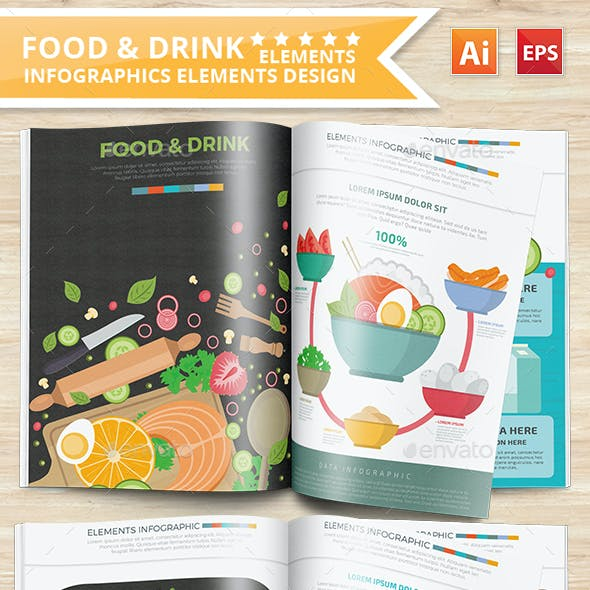 Food & Drink 2 infographic Design