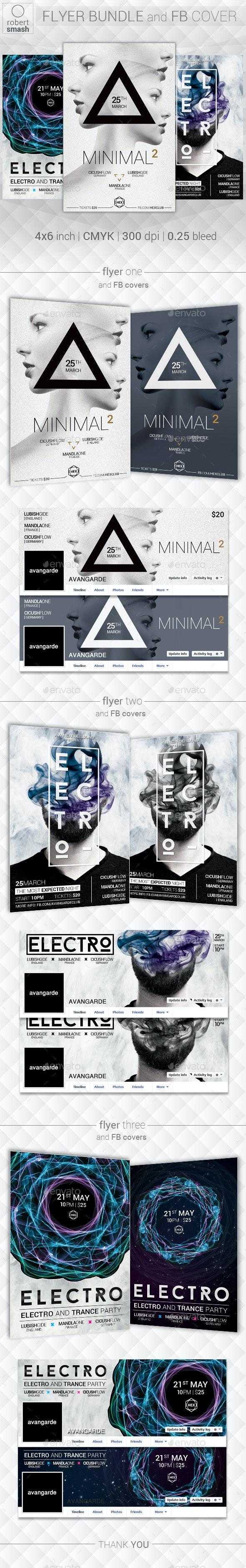 Music Flyer Bundle vol.12 - Clubs & Parties Events
