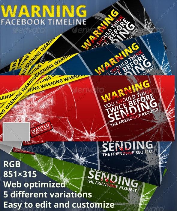 Warning Facebook Timeline Cover - Facebook Timeline Covers Social Media