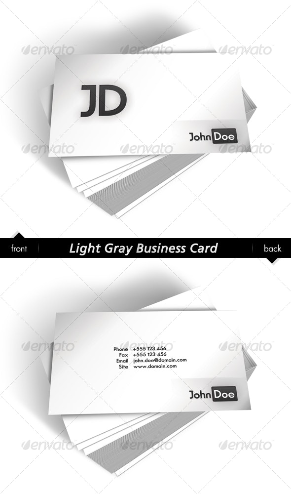 Light Gray Business Card - Corporate Business Cards