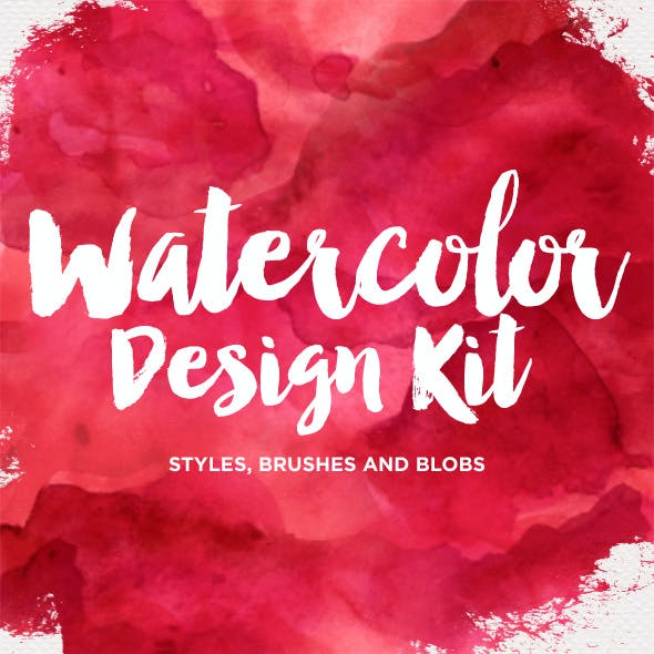 Watercolor Design Kit - Photoshop Styles