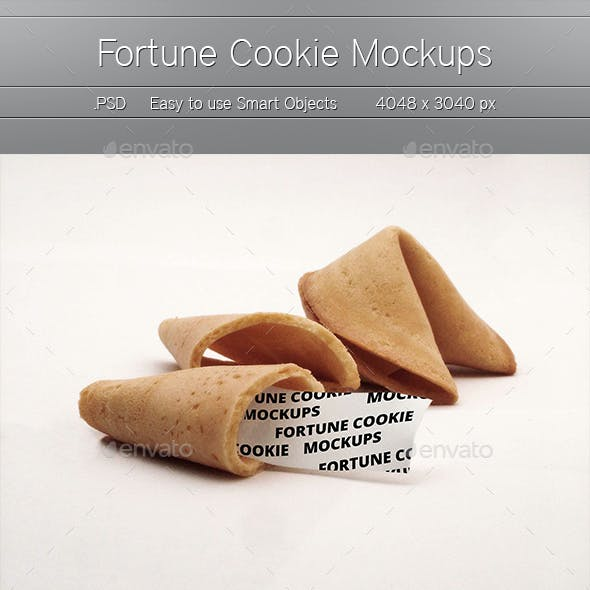 5 Fortune Cookie Mockups