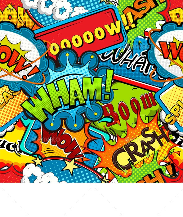 Multicolored Comics Speech Bubbles Seamless Pattern Vector by yayasya