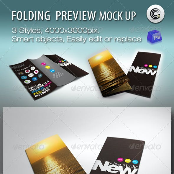 Folding Booklet Preview Mock-ups