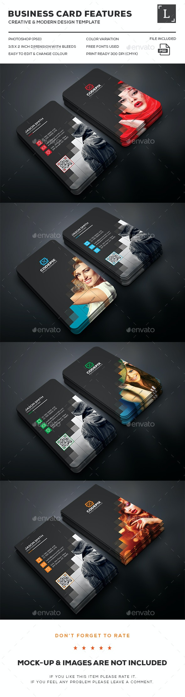 Photography Business Cards - Business Cards Print Templates