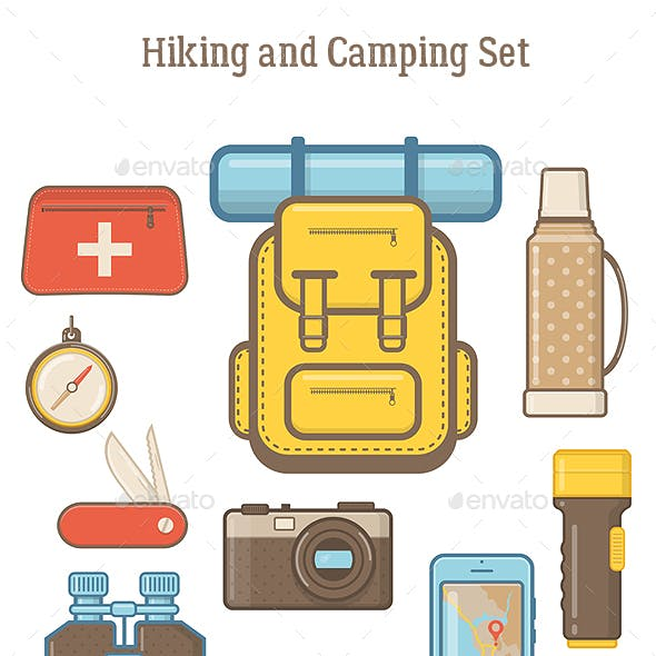 Camping and Hiking Equipment Elements