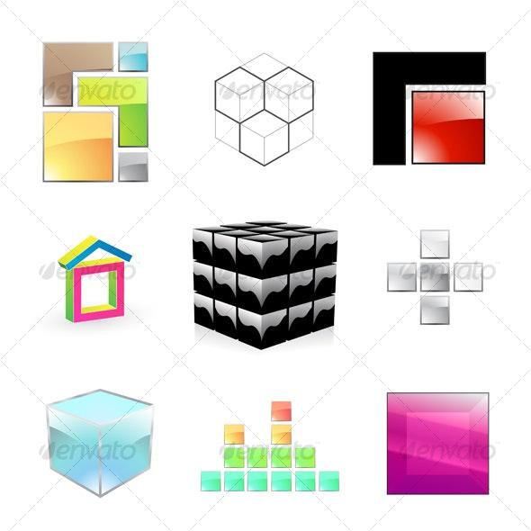 Box icons collection - Decorative Symbols Decorative