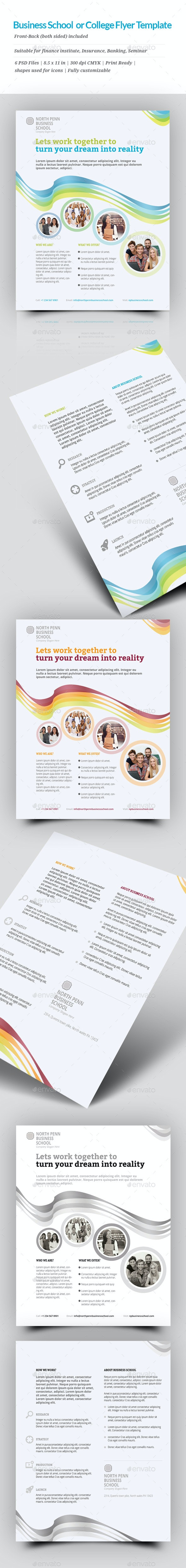 Business school or College Flyer Template - Commerce Flyers