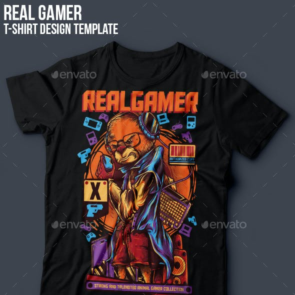 RealGamer T-Shirt Design