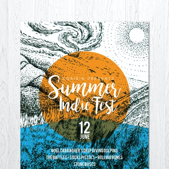 Summer Indie Fest Flyer