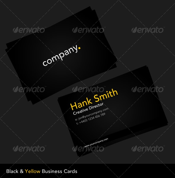 Black & Yellow Business Card - Corporate Business Cards