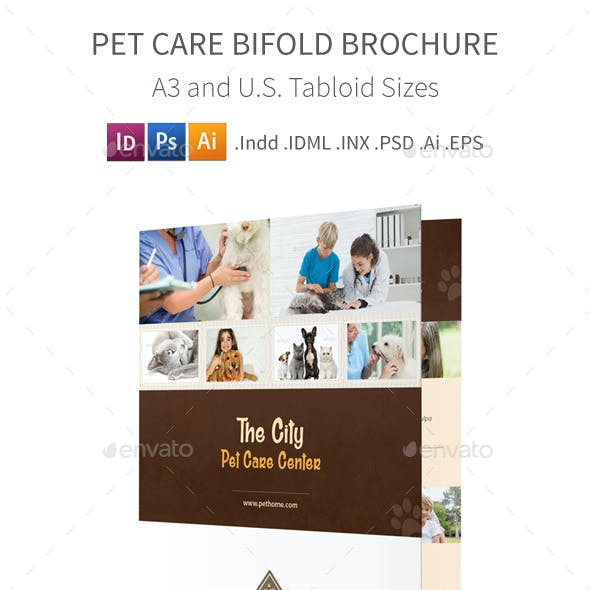 Pet Care Bifold / Halffold Brochure 3
