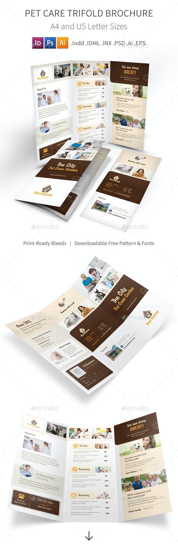 Pet Care Trifold Brochure 3 - Informational Brochures