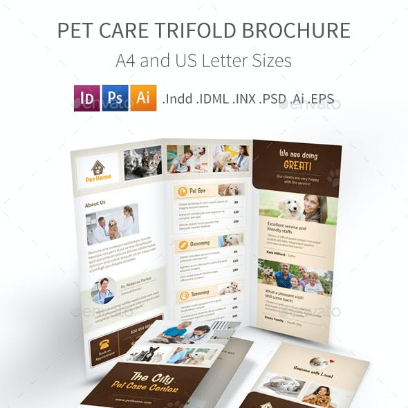 Pet Care Trifold Brochure 3