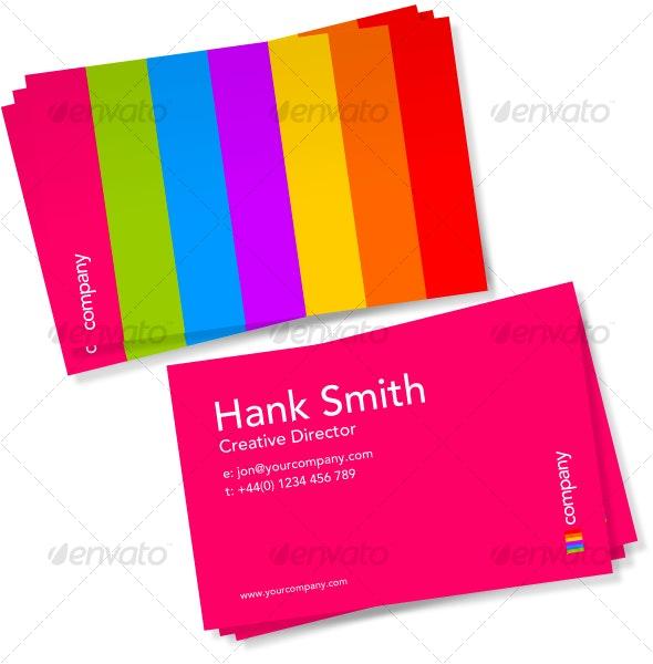 Rainbow Business Card Design - Creative Business Cards