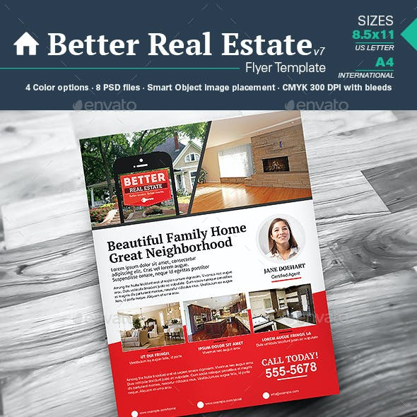 Better Real Estate Flyer Template v7
