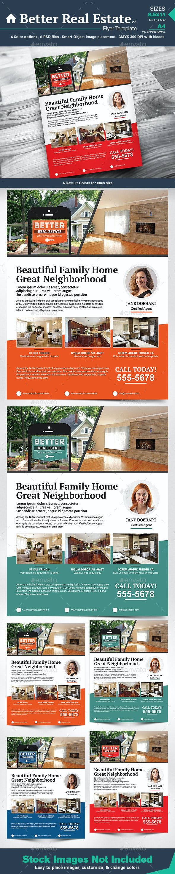 Better Real Estate Flyer Template v7 - Corporate Flyers