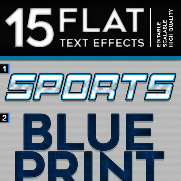 15 Flat Text Effect Styles