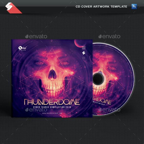 Thunderdome - Hardcore CD Cover Template