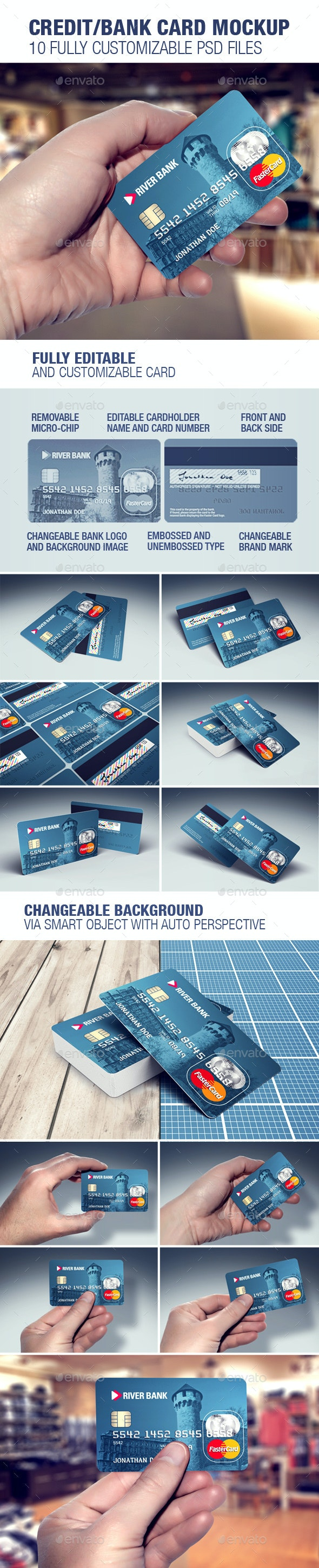 Credit/Bank Card Template & Mockup - Miscellaneous Print