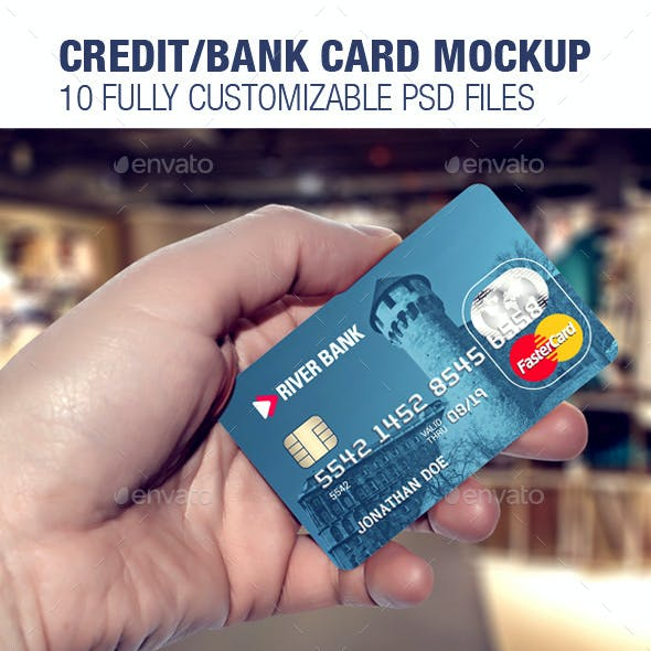 Credit/Bank Card Template & Mockup