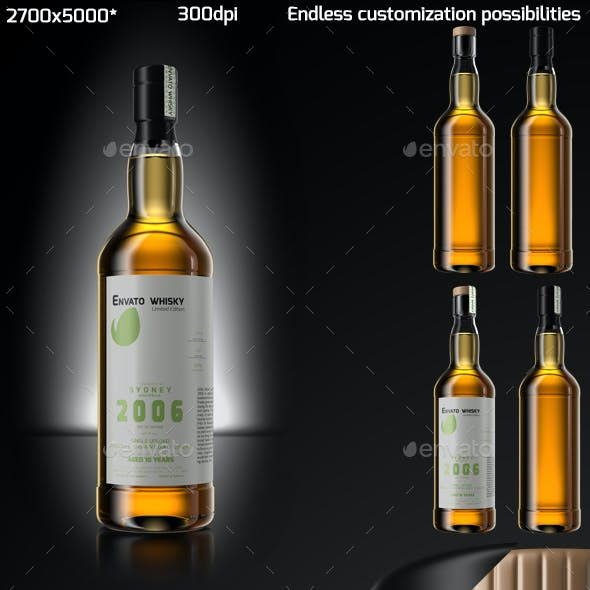 Whisky Bottle Mock Up