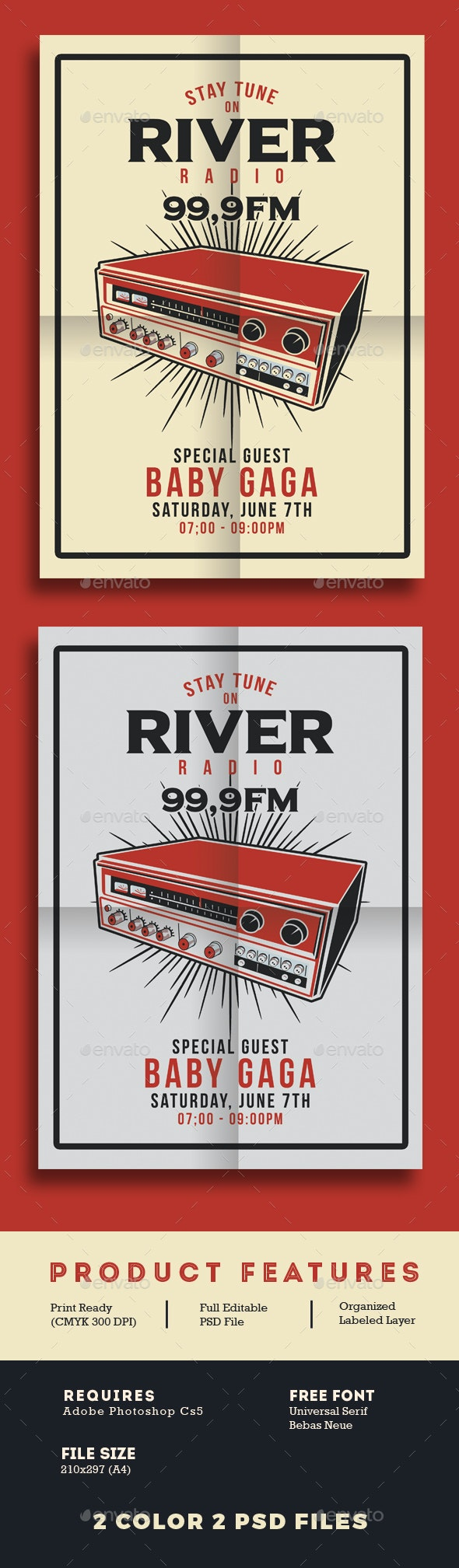 Radio Station Flyer - Events Flyers