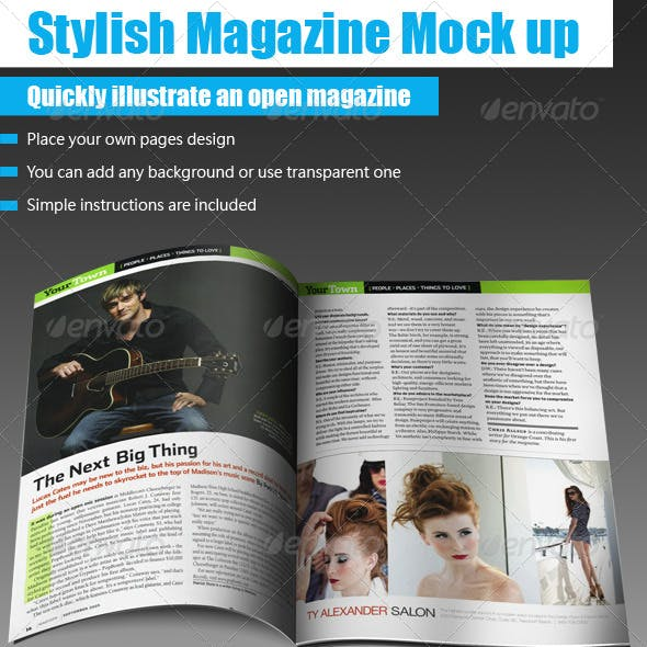 Professional Magazine Mock up
