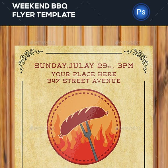 Weekend BBQ Party Flyer