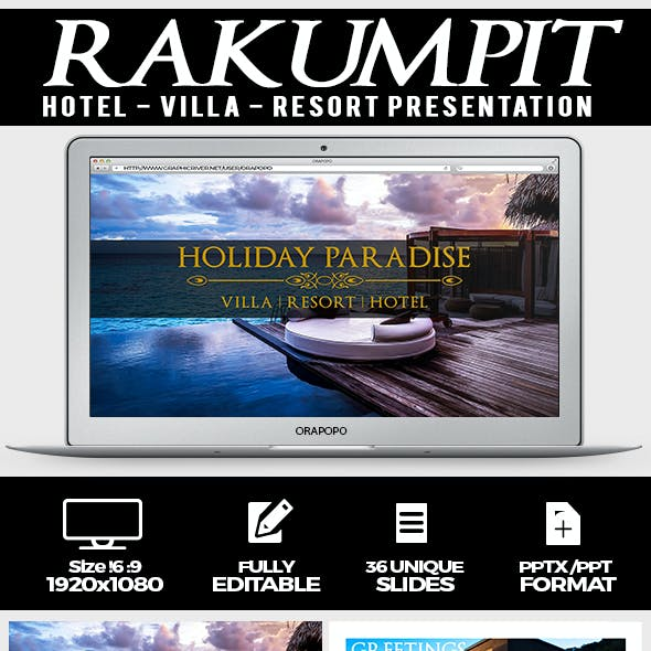 Rakumpit ~ Hotel and Resort Presentation Template