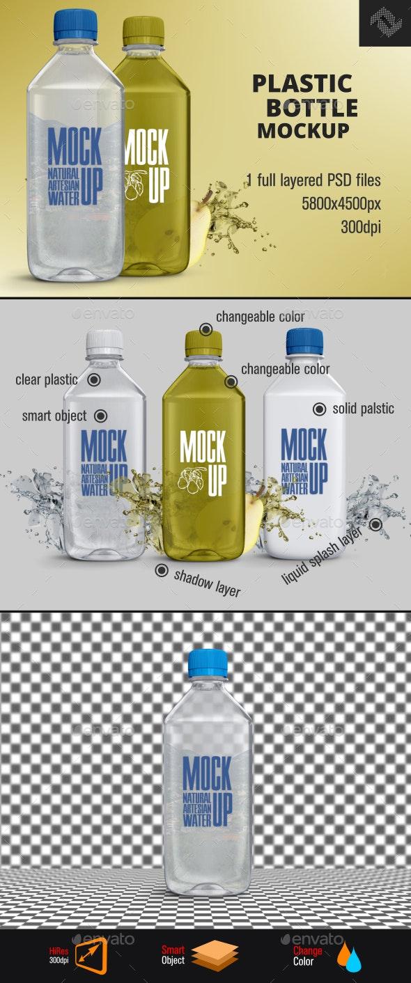 Plastic Water Bottle Mockup - Food and Drink Packaging