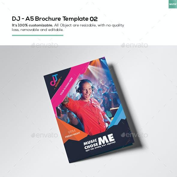 DJ/ A5 Brochure Template 02