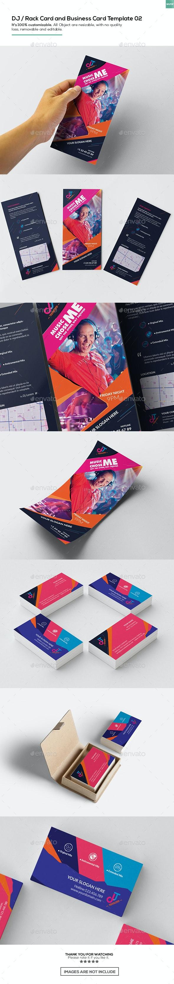 DJ / Rack Card and Business Card Template 02 - Miscellaneous Print Templates