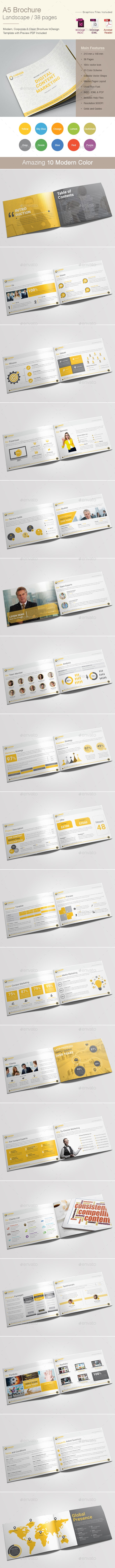 A5 Landscape Content Marketing Brochure - Corporate Brochures