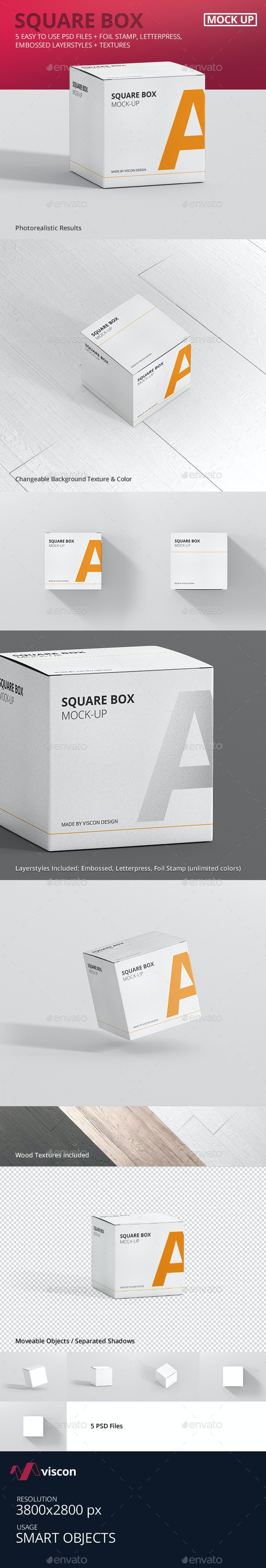 Package Box Mock-Up - Square - Miscellaneous Packaging
