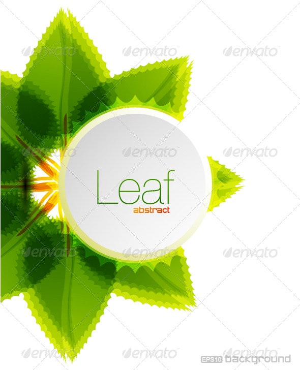 Leaf vector background design - Nature Conceptual