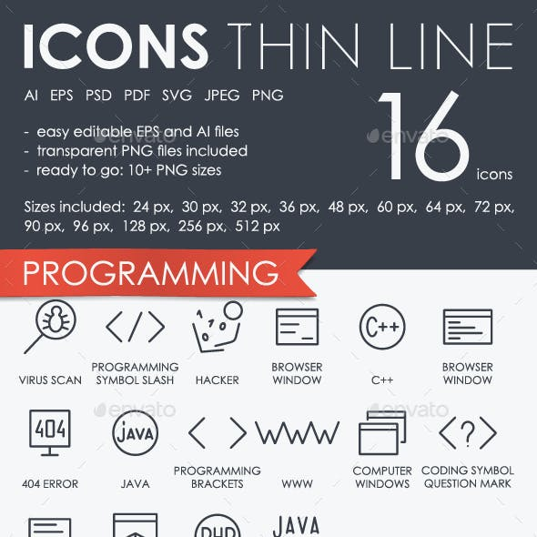 Programming thinline icon