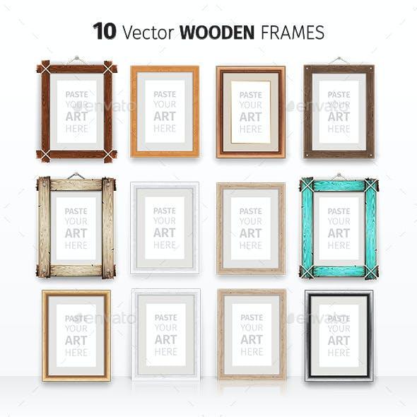 Wooden Rectangle Frames Set