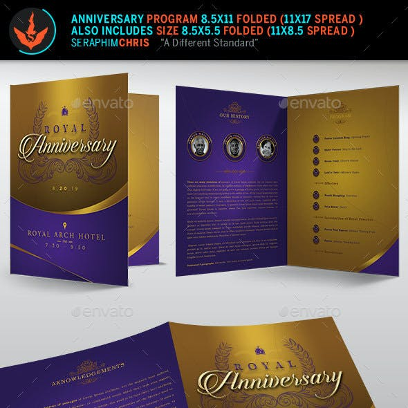 Royal Gold Anniversary Program Template