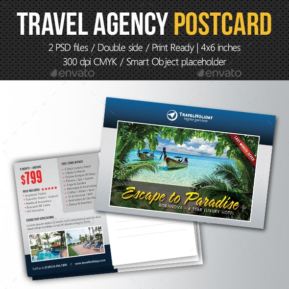 Travel Agency Postcard Template V03