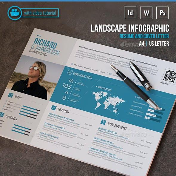 Landscape Infographic Resume