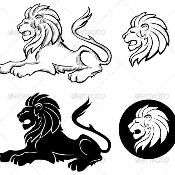 Lion Siluettes