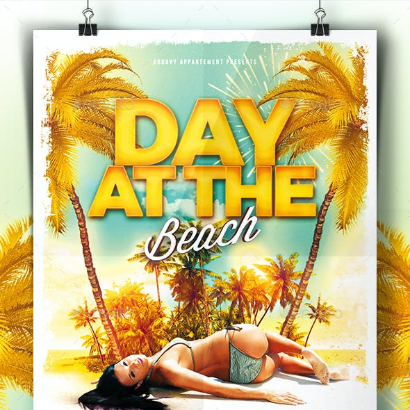 Day At The Beach Flyer