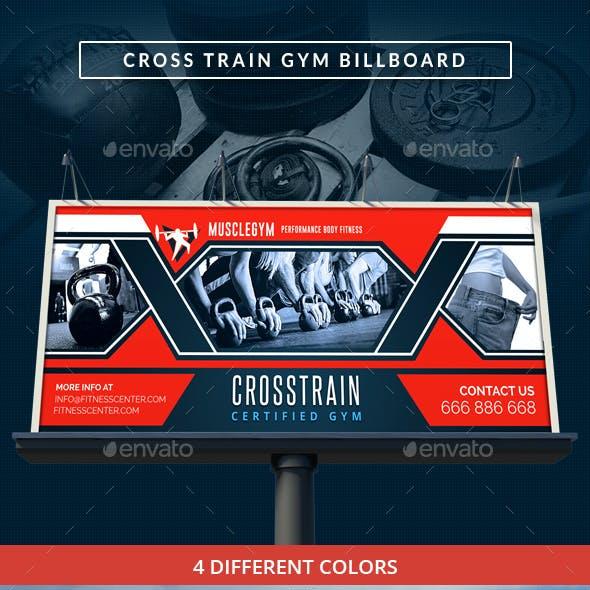 Cross Training Gym Signage Billboard