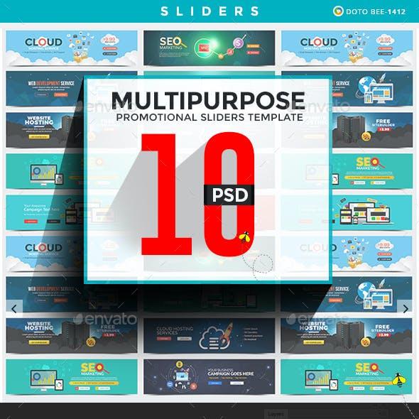 Multipurpose Sliders Bundle - 10 Designs