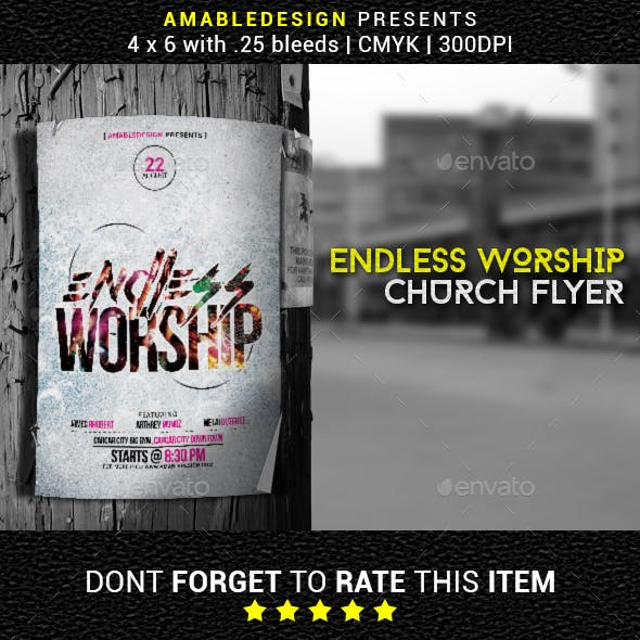 Endless Worship Church Flyer/Poster