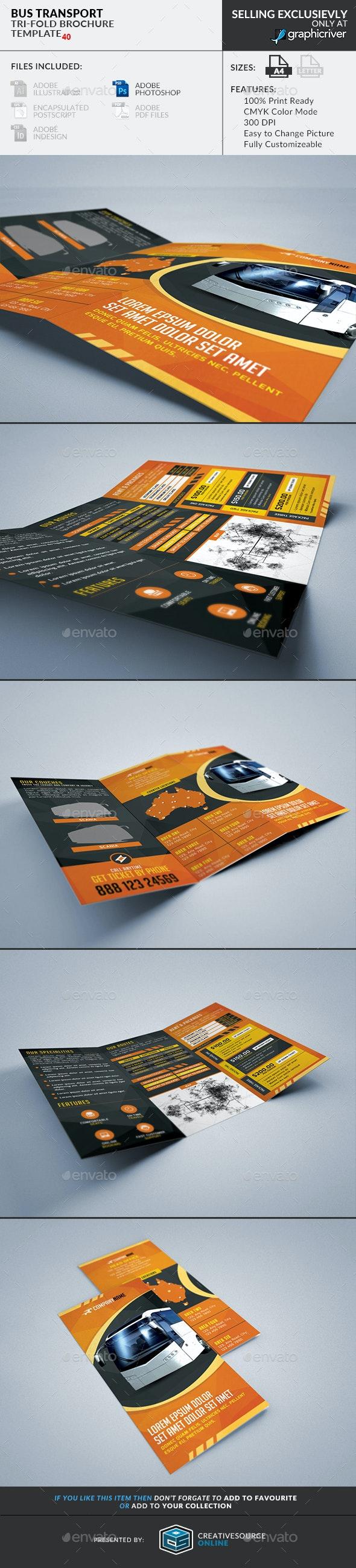 Trifold Brochure 40: Bus Transportation Agency - Corporate Brochures