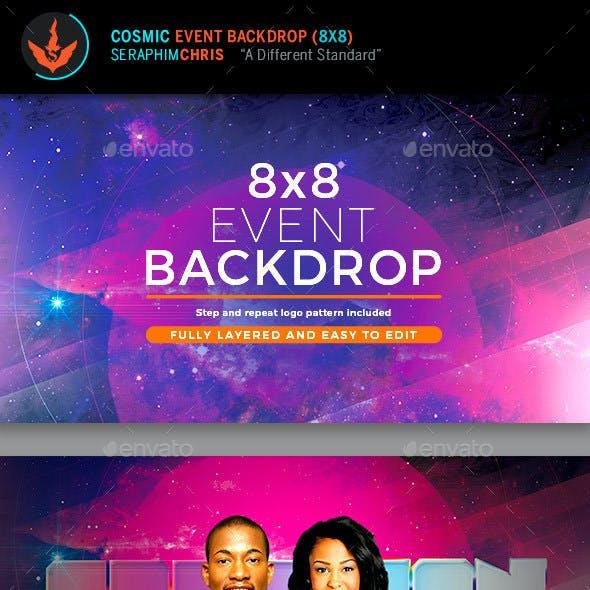 Cosmic 8x8 Backdrop Template