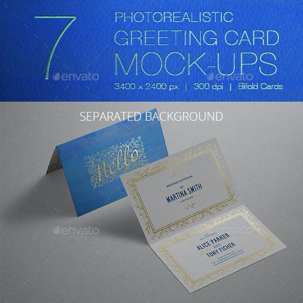 Photorealistic Invitation & Greeting Card Mockup / Bifold Edition